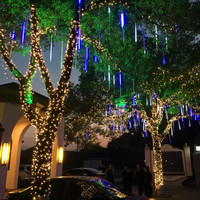 YIYANG Multi Color 30CM Meteor Shower Rain Tubes AC100 240V LED Christmas Lights Wedding Party Garden