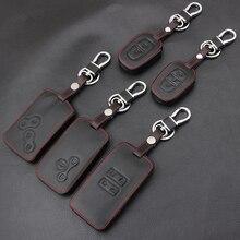 Genuine Leather Car Key Cover Case Car Styling Cover For Renault Kadjar Clio Logan Megane 2 3 Koleos Scenic Card Keychain Case