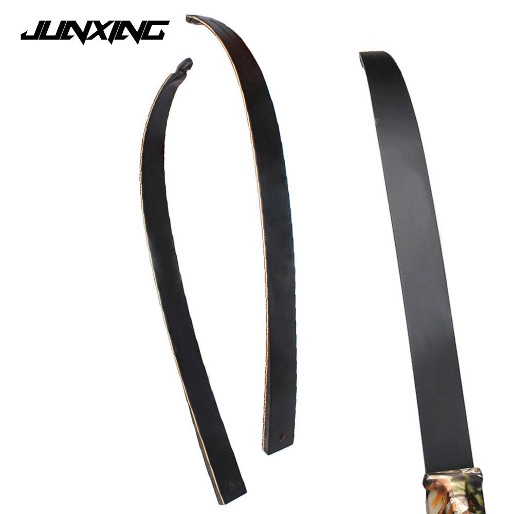 1 paire de membres d'arc recourbés de haute qualité 30-50 lb pour la chasse à l'arc Long avec fibre de verre et bois d'érable laminé
