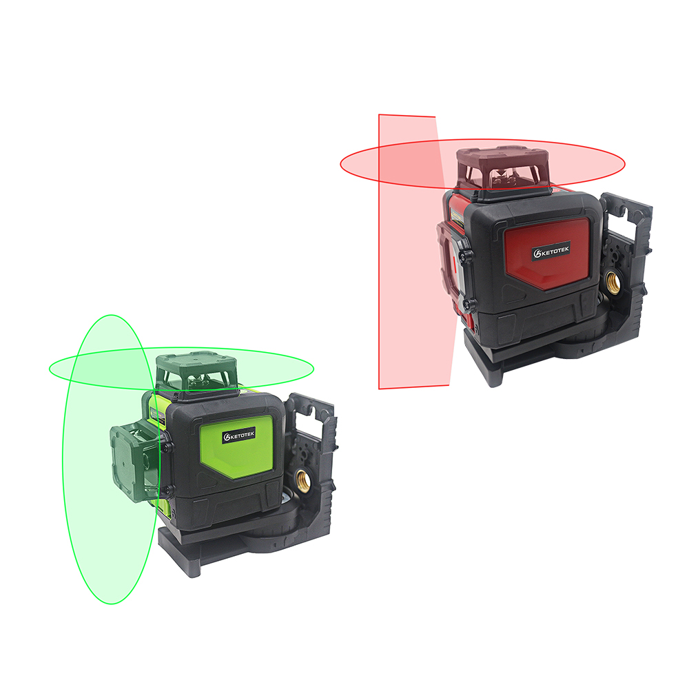 KT901C Red Green Laser Level 360 Self Leveling Lock Mode 630 670nm Laser Levels Super Powerful