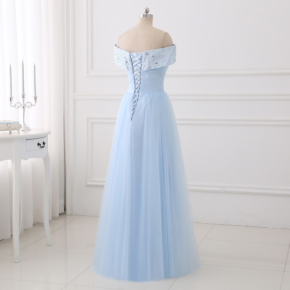 a2581e58e3 ₪Longue Robe De Soirée 2019 Tulle Prom Party Robe Sexy Une ligne ...