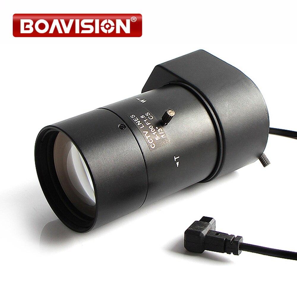 Objectif de la Caméra IP Bullet Caméra À Focale Variable 5 ~ 100mm Plage D'ouverture 1/3 Auto Iris F1.8 monture CS DC Drive Objectif Pour La Sécurité CCTV