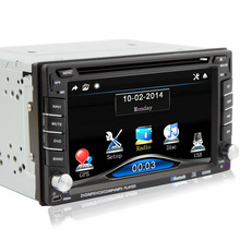 GPS universal car radio 2 din Car DVD player GPS navigation computer speakers free maps of TF card 2DIN CD Free shipping