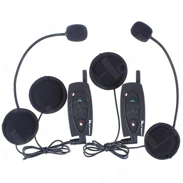 ¡ CALIENTE!! 2x500 M de La Motocicleta Del Casco de Bluetooth Intercom Headset, Manos Libres, Música Estéreo HiFi, Envío libre! (paquete de 2)