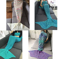 Girls Adults Princess Love Gift Spring Bedding Sofa Mermaid Blanket Wool Knitting Fish Style Little Tail Blankets Warm Sleeping