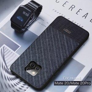 Для Huawei Mate 20 Pro чехол Mofi для Huawei Mate 20 чехол для костюма ткань Темный бизнес Mate 20 Pro для Huawei Mate20Pro