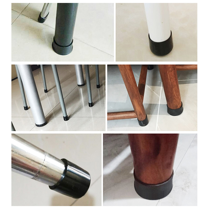 For Chair Table Furniture Feet Leg 4 X Rubber caps Caps Anti Scratch   Rubber Protector   Hot New 10Pcs  16-50mm 4