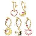 1pcs 2016 Japan samantha vega girl kawaii anime Sailor Moon 20th anniversary crystal luna cat key phone bag pendant hang chain