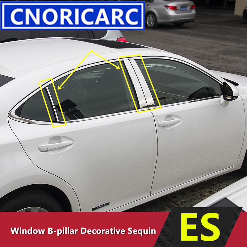 2014 Lexus Es 300h: CNORICARC 6pcs Stainless Steel Door Window B Pillar