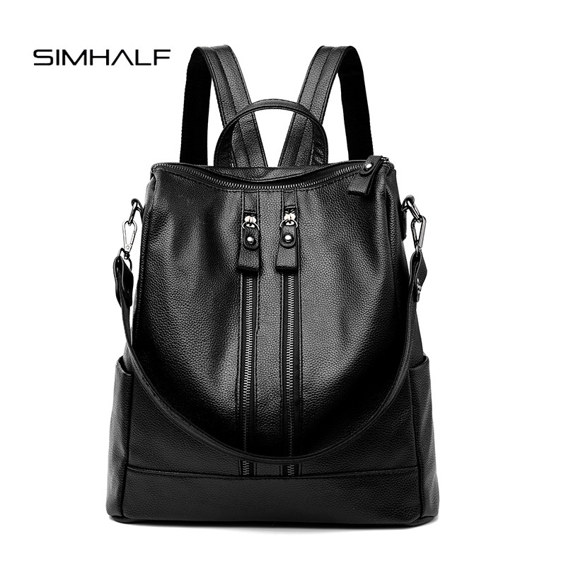 SIMHALF Fashion PU Leather Backpacks High Quality Mochila Escolar School Bags For Teenagers Girls Top-handle Anti Theft Backpack 3d fantastic animal prints horse unicorn backpacks for teenagers boys girls kids backpack school bags children mochila escolar