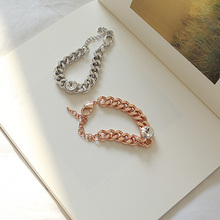 Classical Alloy Handchains Round Crystal Rhinestone Pattern Bracelet Ladies Mke Up Hand Decoration jb232