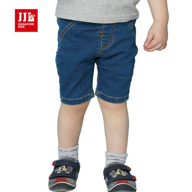 c81e45c09 Retail 2016 new summer kids clothing boys girls straight pants classical  solid half trousers baby jeans