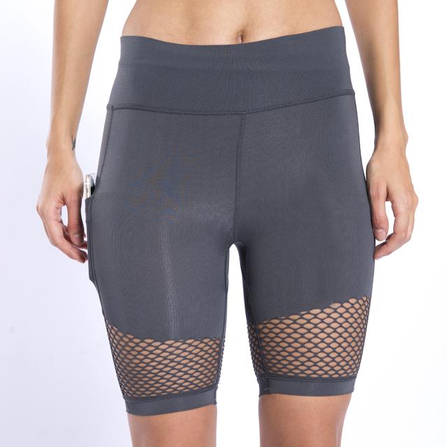 Women's Mesh Detail Yoga Shorts 4 Colors S-L