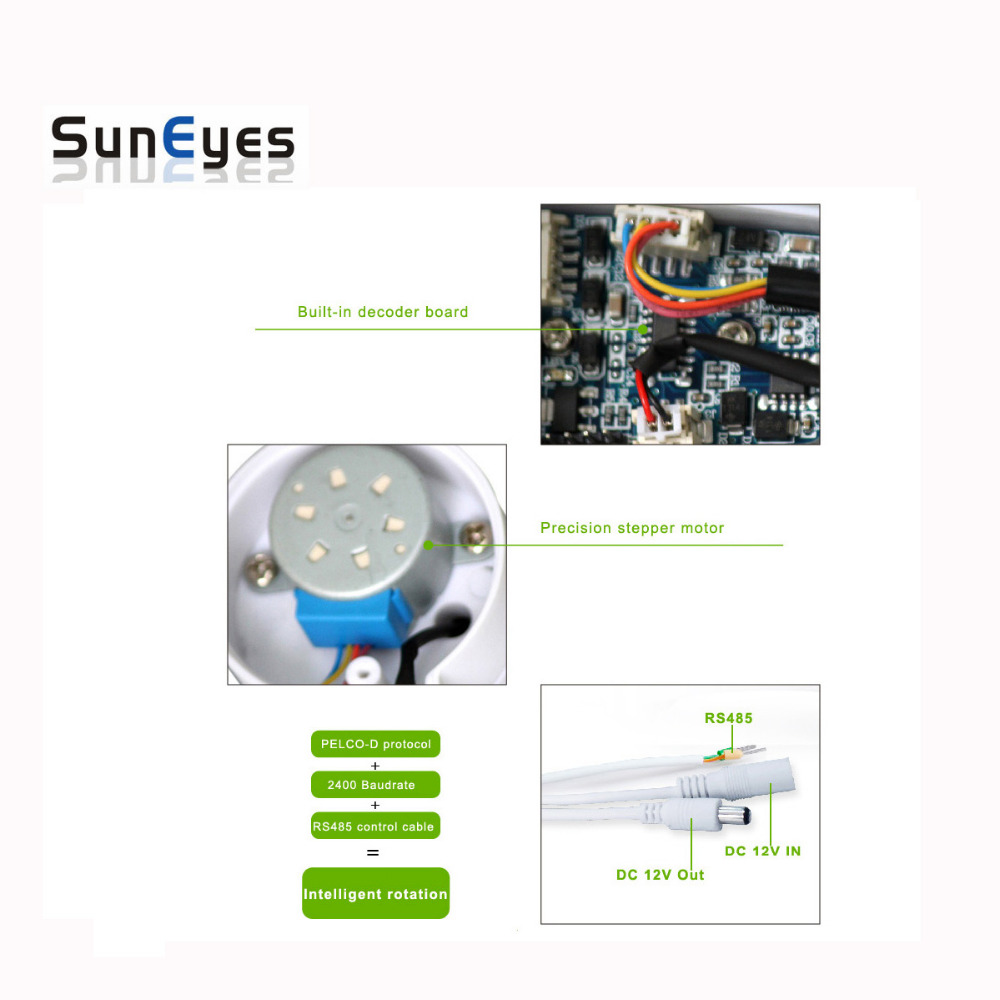 hight resolution of suneyes cctv bracket ptz electrical rotating rs485 connection waterproof outdoor pan tilt rotation motor built in in cctv accessories from security