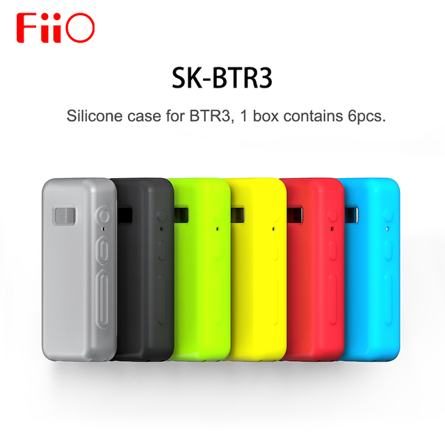 Fiio SK-BTR3 Silicone case for BTR3 Bluetooth DAC Amplifier 1 set contains 6 pcs ( 6 colors )