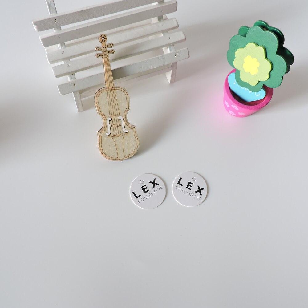 Custom gedrukt prijs papier gift hang tag/logo swing hang tag/papier label voor kledingstuk/gratis vergoeding ontwerp hangtag-in Kledinglabels van Huis & Tuin op  Groep 2
