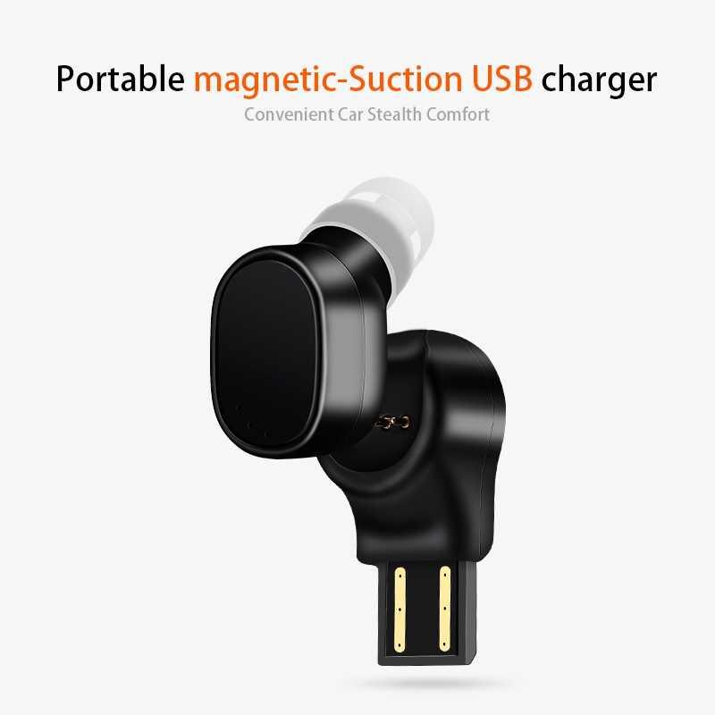 EDAL X12 Mini Bluetooth écouteur sans fil Invisible écouteurs magnétique USB chargeur écouteur avec micro pour iPhone X Samsung