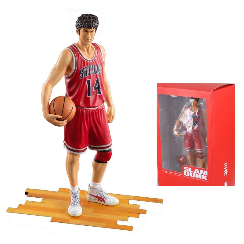 Slam Dunk Shohoku 14 Mitsui Hisashi Action Figure Japan Anime Collectible Model Kid Toys In Box slam dunk shohoku 7 ryota miyagi action figure japan anime collectible model kid toys in box