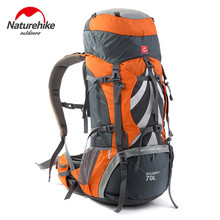 Naturehike Unisex Outdoor Bags Professional Mountaineering Backpack Waterproof Big Capacity 70L Mountain Softback Sport
