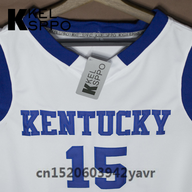 69bcacf49f55 ... discount code for custom adult throwback basketball jerseys 15 demarcus  cousins kentucky wildcats embroidered basketball jersey ...