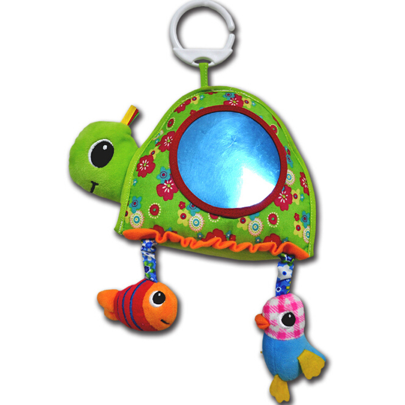 Hot Baby Toy Stuffed Plush Baby Rattles Toddler Car Seat Tortoise Mirror Infant Stroller Hanging Newborn Toys 0-12 Months