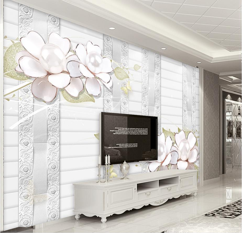 custom 3d luxury wallpaper Simple embossed flowers upscale 3d wallpaper  living room decor background horse wallpaper