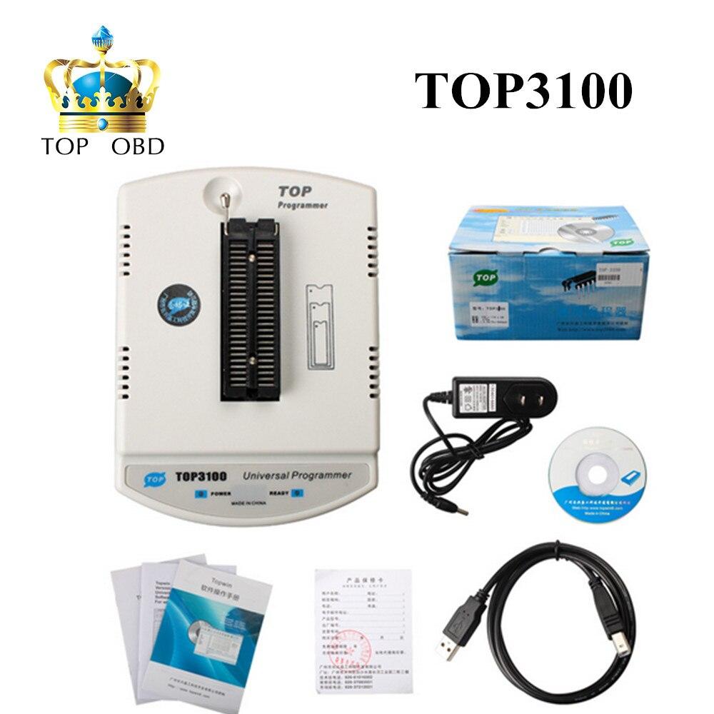 2017 New Arrival TOP 3100 USB Universal Programmer ECU Chip Tunning Programmer TOP3100 ECU IC Programmer DHL free shipping