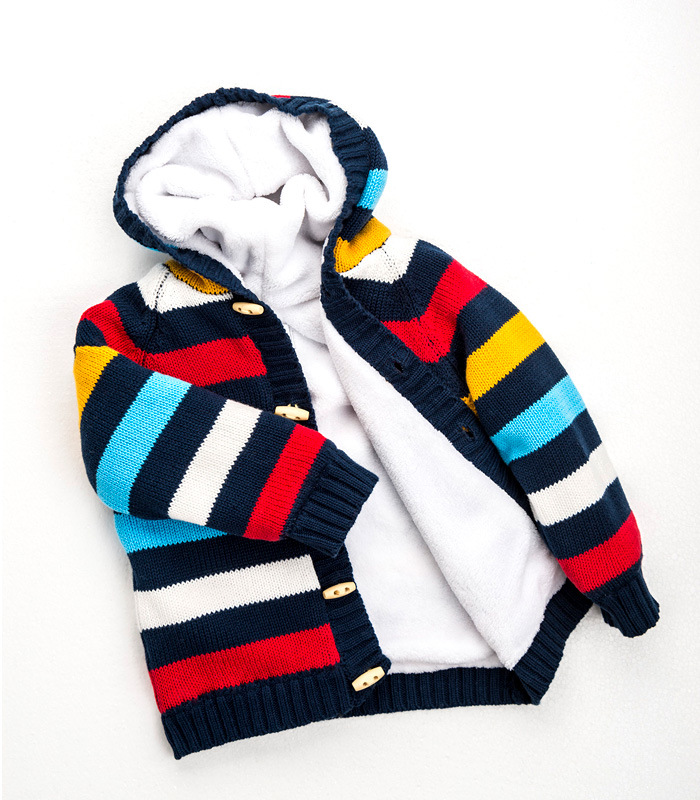 Childrens-Hooded-Thick-Sweater-12M-to-4T-Cotton-striped-Single-Breasted-Sweater-Autumn-Winter-Baby-Boy-Girl-Childrens-Clothing-4