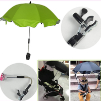 Rotating Summer Baby Flat Pram Tricycle Baby Stroller UV Sun Protection Sunshade Umbrella Sun Shield Cover with Stand Holder