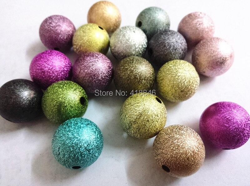 Заводская цена 120 шт./лот смесь цветов 20 мм акриловые Stardust Бусины, коренастый Бусины Bubblegum Бусины для Цепочки и ожерелья