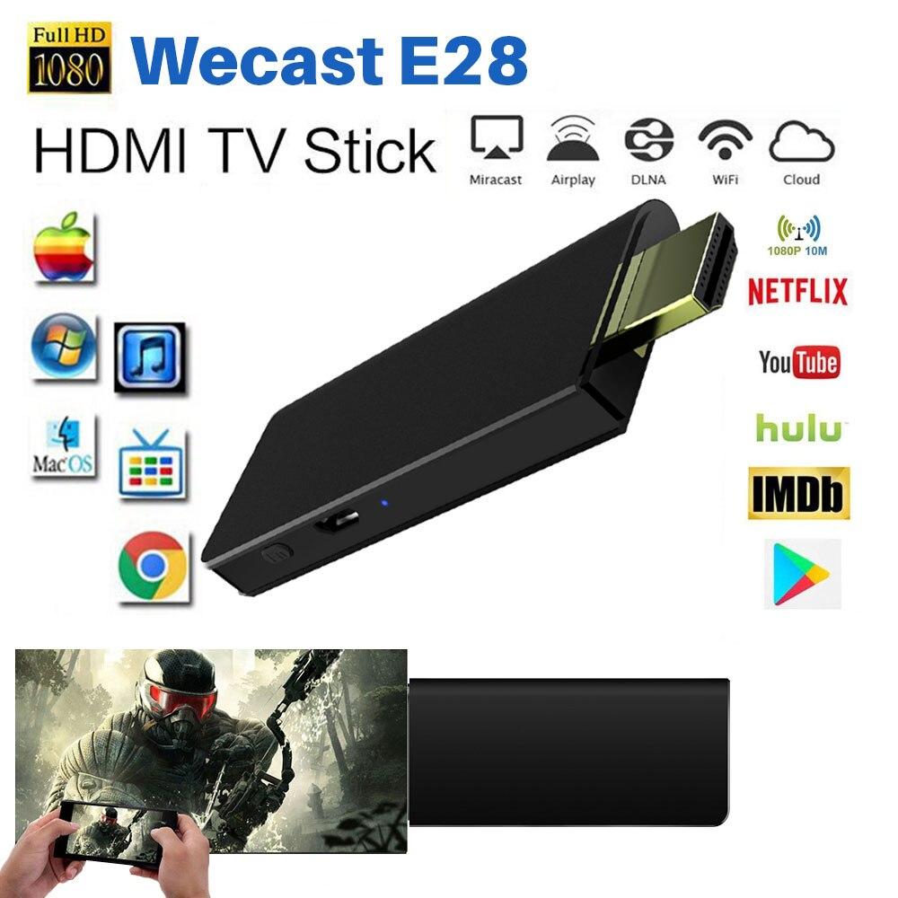 Miracast TV Stick soporte de Netflix, Youtube 1080 P HDMI inalámbrico WiFi TV Dongle receptor DLNA Airplay Mirascreen reflejo de pantalla