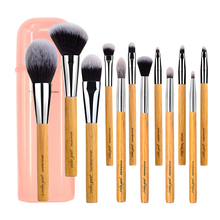 Professional Makeup Brushes Set Soft Vegan Synthetic Travel Make Up Brush Tools Kit with Case
