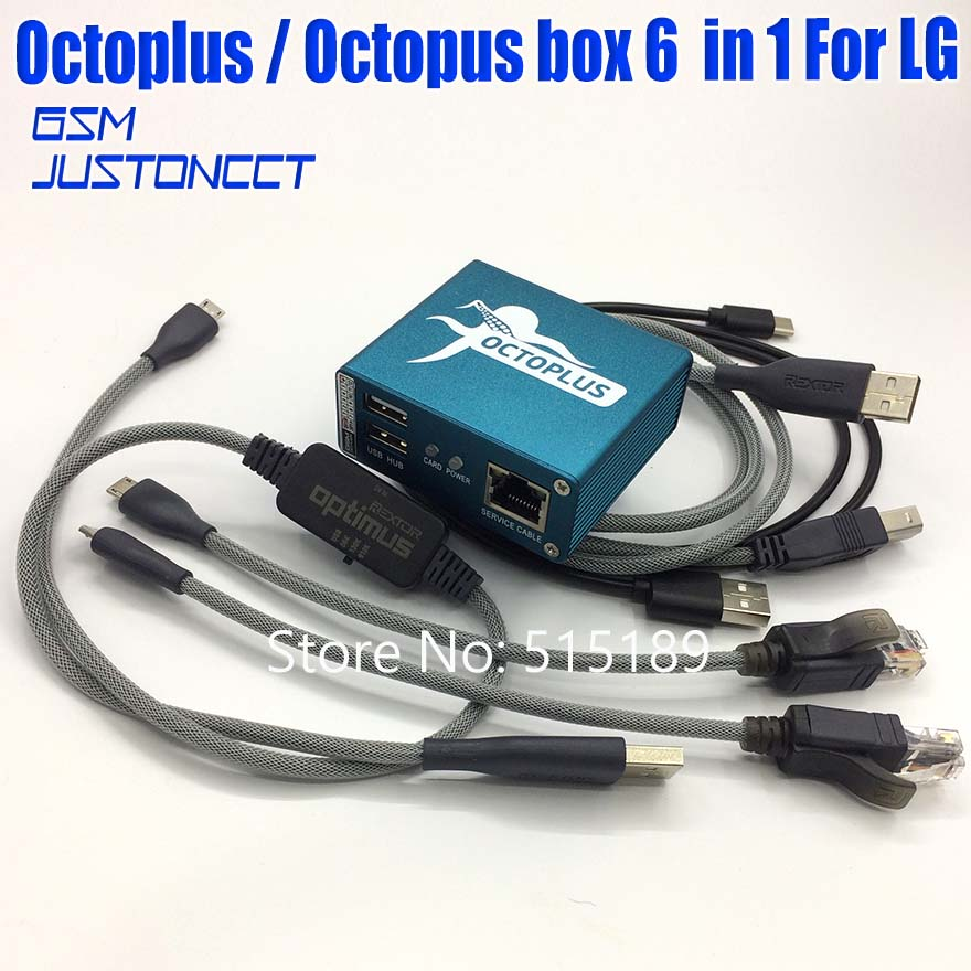 Original Octoplus /octopus Box Actived For Lg Repair ,unlock ,flash With 5 Cables (optimus Cable)