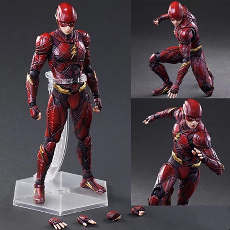 10DC Justice League NO.2 The Flash Play Arts Kai Action Figure Toy Brinquedos Figurals Collection Model Gift elsadou 26cm play arts pa justice league the flash action figure toy doll collection