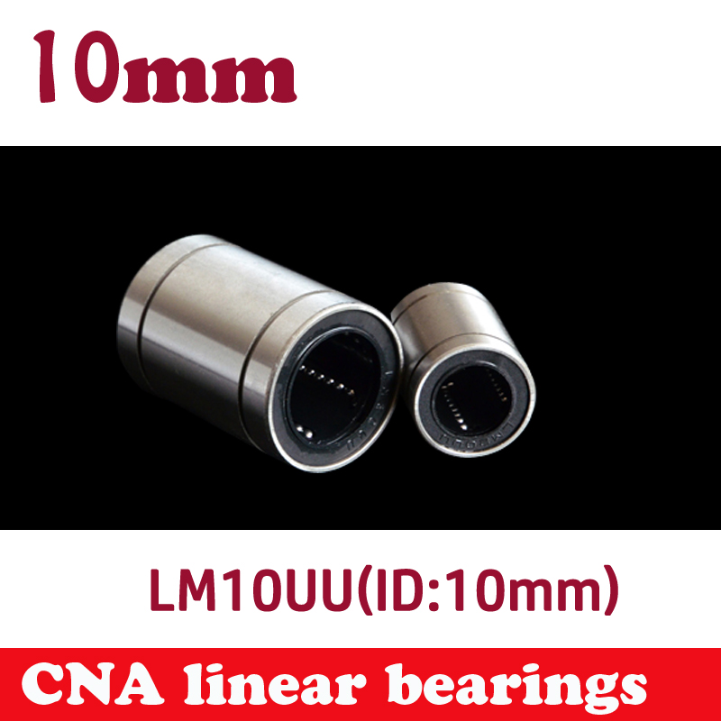 12 pcs NEW LM10UU LM10 linear ball bearing 10mm linear bush cnc parts for 3D printer parts 10mm linear rod 1pc scv40 scv40uu sc40vuu 40mm linear bearing bush bushing sc40vuu with lm40uu bearing inside for cnc