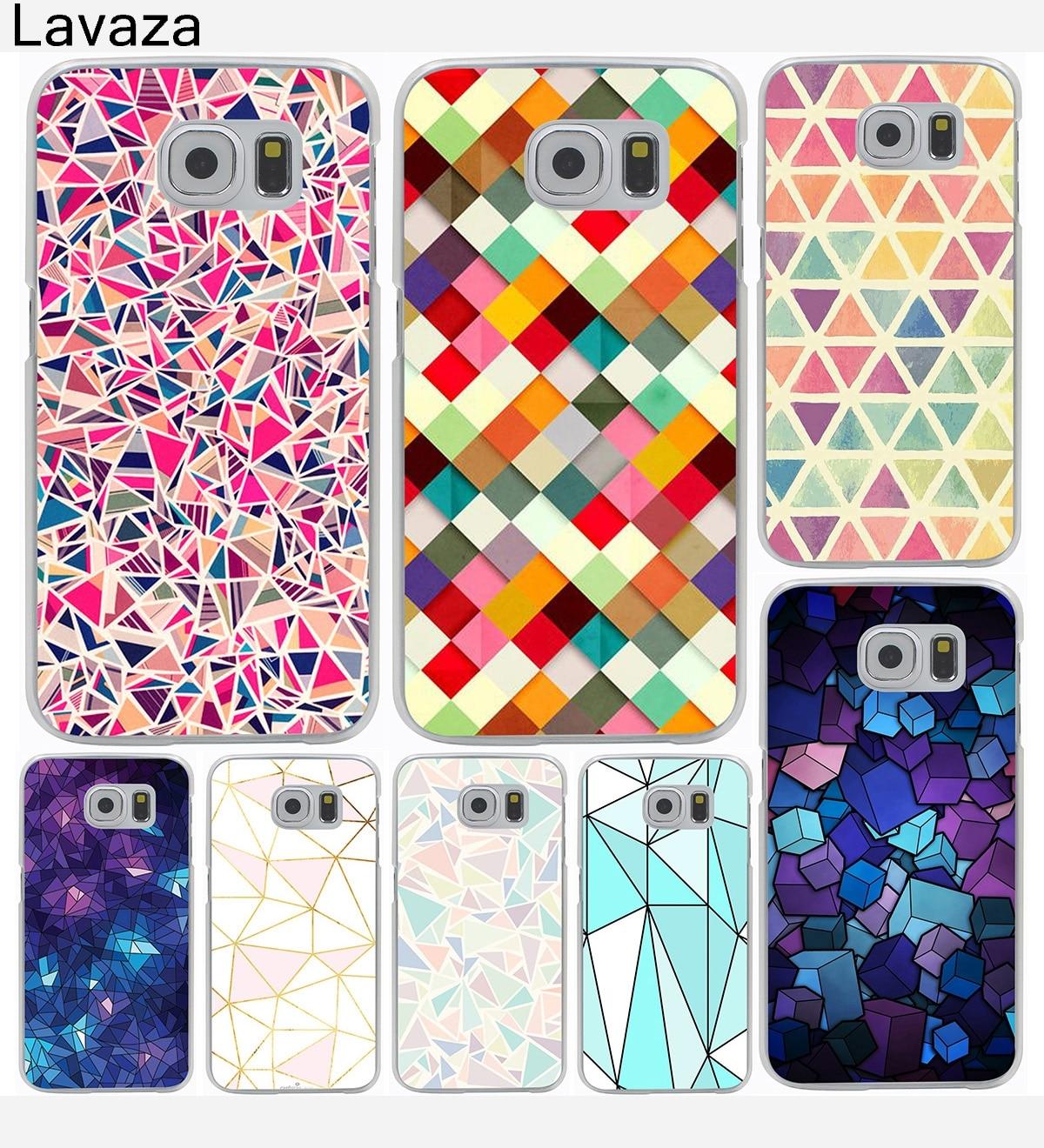 Fashionable Geometric Graphic Hard Cover Case for Galaxy S3 S4 S5 & Mini S6 S7 S8 Edge Plus