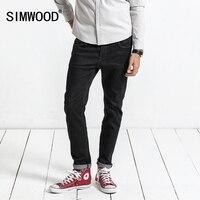 SIMWOOD 2017 Autumn New Jeans Men Skinny Biker Jeans Denim Overalls Men Slim Fit Plus Size