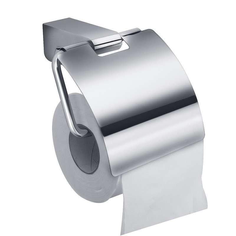 ФОТО High quality Polished Chrome solid brass Bathroom Toilet Paper Holder Tissue Box Holder