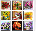 % 9 Designs flowers vase DIY 5D round Diamond crystal Rhinestone Painting mosaic Cross Stitch Diamond Embroidery Kits Needlework