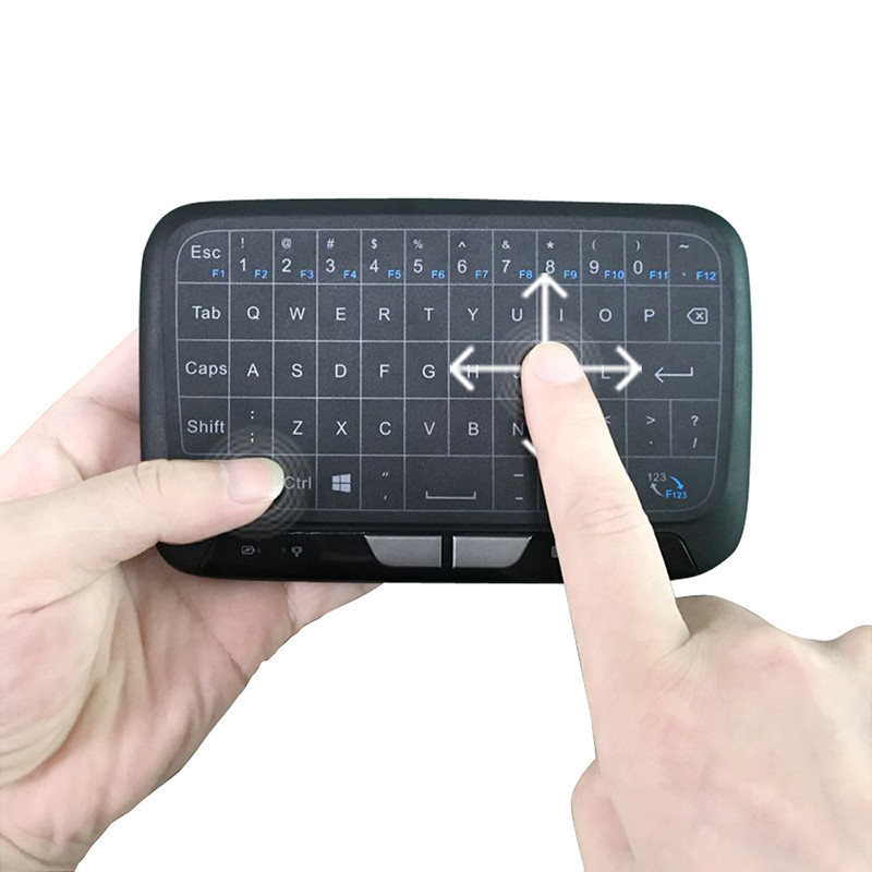 Mini H18 2.4GHz Mini Wireless Keyboard Touchpad Portable Keyboard With Mouse for Windows Android/Google/ Gaming P15 ...