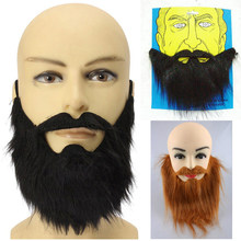 1PC Long Fake Beard Fancy Dress Halloween Costume Party Facial Hair Moustache Wig Funny Festival Christmas Supplies Prom Props(China)
