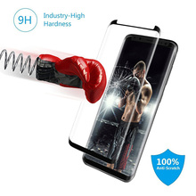 For Samsung Galaxy S8 s8 plus glass 3D Full coverage transparent screen protection phone toughened film For Samsung NOTE 8 glass