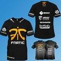 Envío libre CSGO LOL Campeón Juego Equipo Fnatic Camiseta O Cuello de algodón casual Tees steelseries Juego Atletismo Camiseta