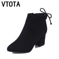 VTOTA Boots Women Fashion Autumn Boots Platform Shoes Women Zapatos Mujer Martin Boots Ankle Boots For