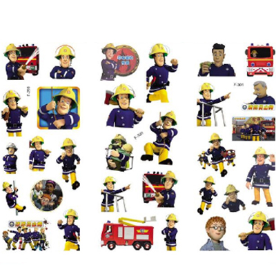 3 sheets/set Fireman Sam stickers for kids Home wall decor cute cartoon mini 3D foam sticker kawaii decal doodle stylish mirkwood design 3d wall sticker for home decor