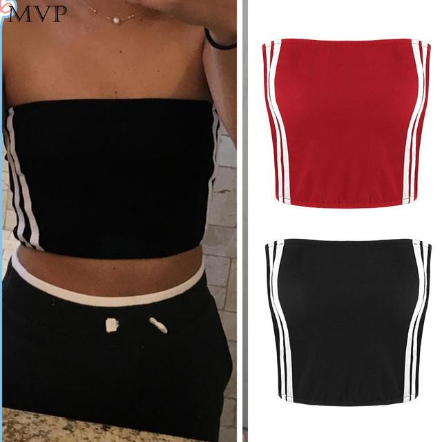 99554437a8b 2018 Women Summer Sexy Tube Top Off Shoulder Bandeau Cropped Tube Tops Strapless  Bra Ladies Cotton Bandeau Tops Slim Camis
