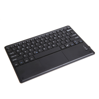 Ultra Slim 10inch Wireless Bluetooth Keyboard With Built In Multi Touch Touchpad And Rechargeable Battery