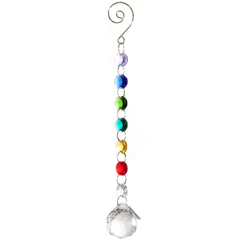 30 χιλιοστά πολύχρωμο σχεδιασμό Suncatcher σαφής φωτισμός μπάλα κρεμαστά κοσμήματα αξεσουάρ γάμος διακόσμηση σπίτι κρύσταλλο πρίσματα πολυέλαιος μέρη