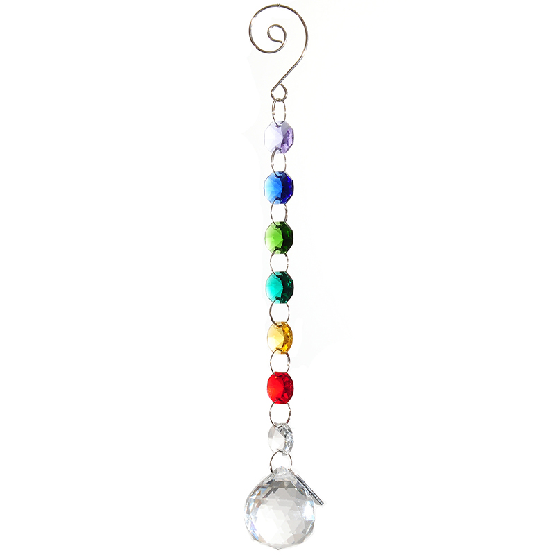 30mm diseño colorido suncatcher claro Iluminación bola Colgantes Accesorios weding decoración del hogar de cristal Prismas lámpara