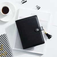 Dokibook A5a6 Black Leather Cover Notebook And Journals Personal Planners Diary Scrapbook Vintage Stationery School Supplies
